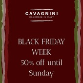 BLACK FRIDAY WEEK is here! Until Sunday 29th, all the website is 50% off. (Link in bio) Have a look and carried on with Christmas gifts 🎁  Hundreds of Made in Italy products in offer for you.  #handmade #madeinitaly🇮🇹 #cavagnini